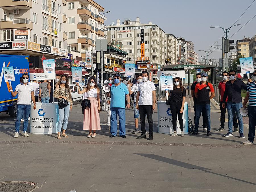 Gaziantep Kent Konseyi Gençlik Meclisi Saha Çalışması